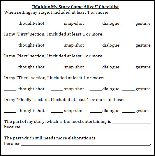 peer editing checklist for descriptive essay The center features descriptive writing samples, helpful tips, a graphic organizer, revising and editing checklists, publishing ideasplus 20 intriguing writing.