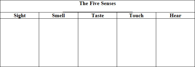 narrative essay using the five senses Descriptive writing - using the five senses updated of continuous narrative and is an important you provide a complete essay on any object.